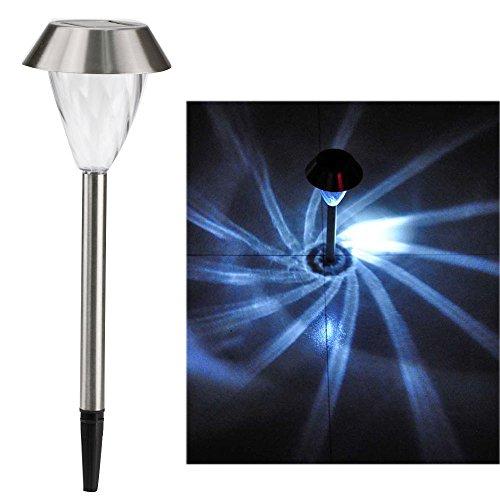 Pathway Light Solar Power Stainless Steel LED Spot Light Outdoor Garden Tornado Post Lawn Lamp Walkway Lights Led