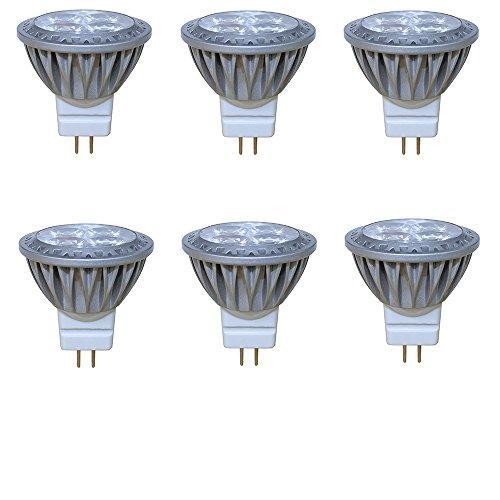 Arrownine 3Watt MR11 LED Light 35Watt Halogen Bulb Equivalent 4 LEDs Soft Warm White 2700K 30° 12VACDC Aluminum Heat Dissipation for Both Indoor and Landscape Lighting Enclosed Fixture Use 6-Pack