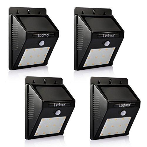 Solar Light LEDMO12 Leds Wireless Waterproof Motion Sensor Outdoor Lighting For GardenDriveway  Warm White 4 Pack