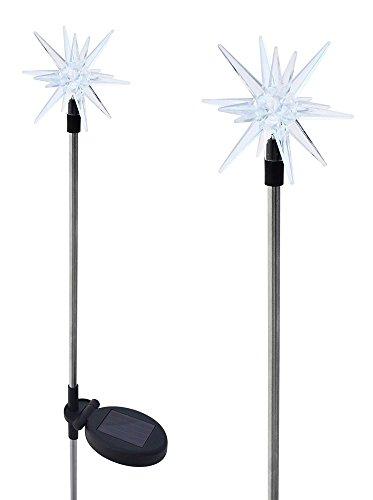 Solaration 1011-2 Sparkling Solar Star Lights Garden Stake Set of 2