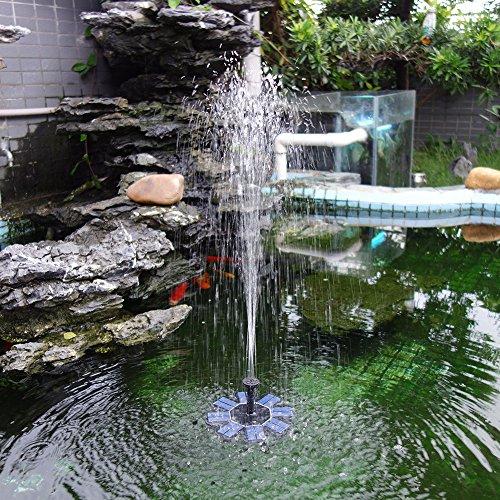 NAMI Solar Fountain Floating Solar Fountain Garden Water Pump 8V 16W Brushless Water Fountain Bird Bath Pond Garden Decor 4 Nozzles IP68 Waterproof