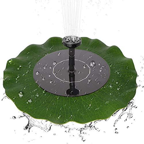 Water Pump Garden Water Pump Solar-powered Floating Lotus Leaf Fountain Brushless Water Pump Pond Garden Bird Bath Decoration Monocrystalline Solar Panel for Bird Bath Garden Pond Energy-saving