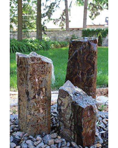 Triple Basalt Fountain Kit Black Pebble