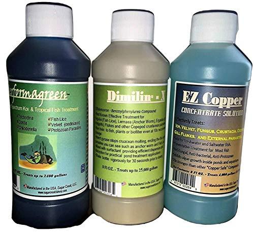 Dimilin-X Performagreen EZ Copper Koi Goldfish Treatment For koi pond