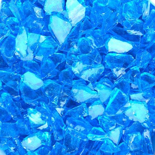 Fire Pit Glass Light Blue Translucent 5 Pound