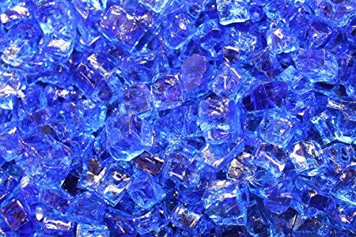 Fireglass 10-pound Fire Glass with Fireplace Glass and Fire Pit Glass 14-inch Cobalt Blue