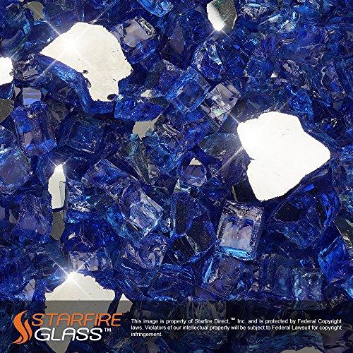 Starfire Glass&reg 20-poundquotfire Glass&quot 12-inch Cobalt Blue reflective Supreme