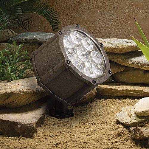 Kichler Lighting 15753azt Led Accent Light 9-light Low Voltage 60 Degree Wide Flood Light Textured Architectural