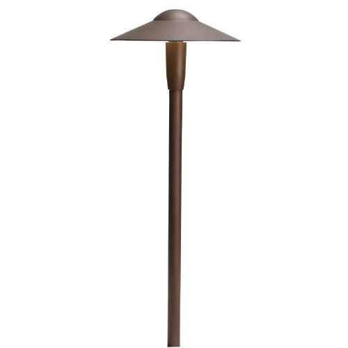 Kichler Lighting 15810BBR27 Dome 4W 2700K Design Pro LED 12V Path Spread Landscape Fixture Bronzed Brass Finish