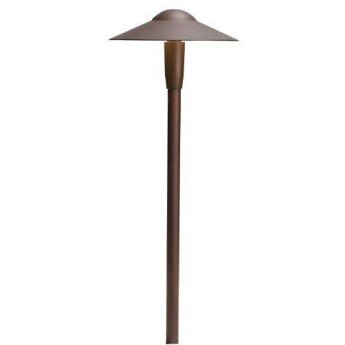 Kichler Lighting 15810BBR27 Dome 4W 2700K Design Pro LED 12V Path Spread Landscape Fixture Bronzed Brass Finish by Kichler Lighting