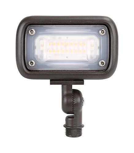 GKOLED 7W Outdoor LED Low Voltage Landscape Lighting Flood Light 2700K 550Lumen 12-24VAC 12 Adjustable Knuckle Mount