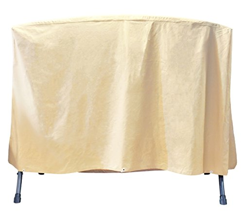 Grand Patio Outdoor Swing Cover Weather-Resistant 3 Triple Seater Swing Cover Waterproof and Durable Porch Swing Covers Beige