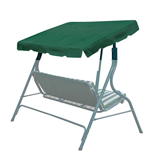 BenefitUSA Canopy ONLY Outdoor Patio Swing Canopy Replacement Porch Top Cover for Seat Furniture 73x52 Green