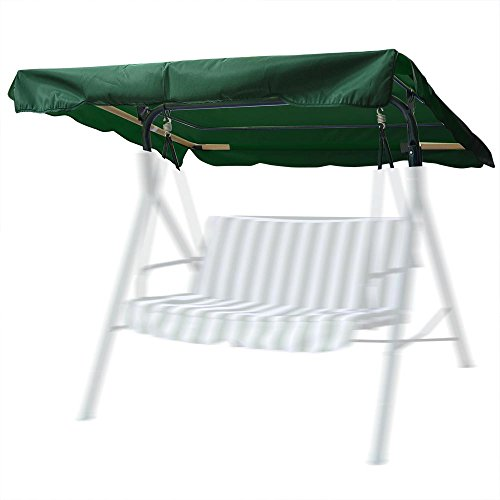Vdasin Outdoor Swing CanopyUniversal Replacement Deluxe Outdoor Patio Swing Canopy for Patio Garden Poolside Balcony Green