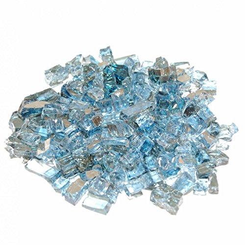 American Fyre 10 Lbs Caribbean Blue Reflective Fire Glass
