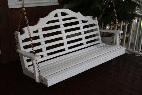 Outdoor 6 Foot Marlboro Porch Swing - Painted- Amish Made Usa -black