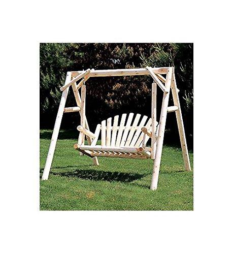 Cedarlooks 0700027 Log 5-Feet American Garden Swing with Stand