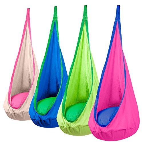 Driftsun Hammock Pod Kids Swing  Outdoor And Indoor Childrens Hammock Chair Nook - Hardware Included pink