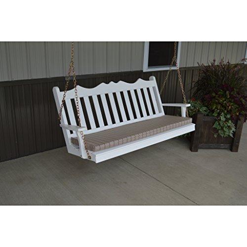 A L Furniture Royal English Yellow Pine 6ft Porch Swing