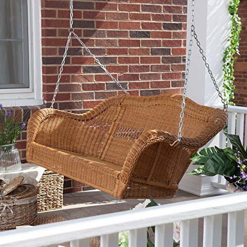 Coral Coast Casco Bay Resin Wicker Porch Swing -