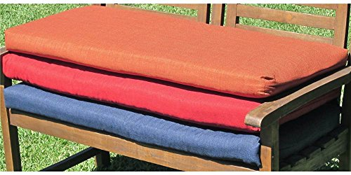 Outdoor Porch Swing Cushion with Solid Fabric 56 in - Wheat