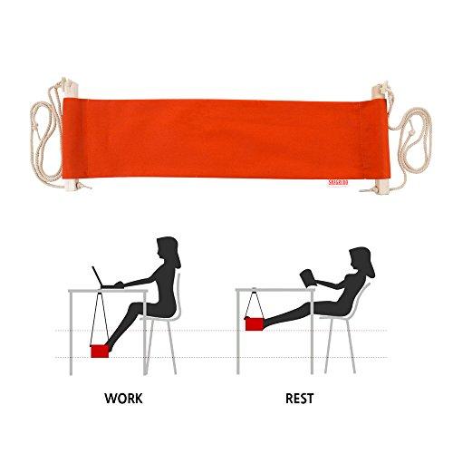 Smagreho Portable Adjustable Mini Office Foot Rest Stand Desk Foot Hammock orange