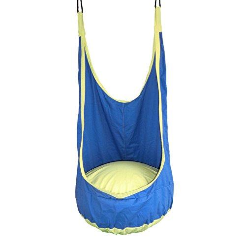 Seasofbeauty Kids Cute Pod Swing Chair Garden Hammock Indoor Outdoor Camping Swing Seat Bed Blue