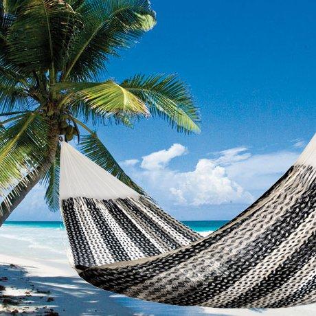 Cove 32 Mayan Handmade Caribbean Matrimonial Hammock - Black White tulum