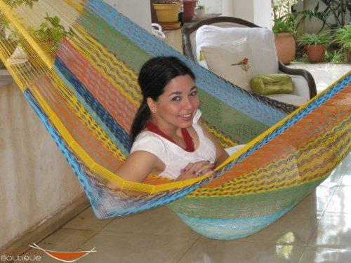Individual Mayan Hammock Multicolor In Cotton