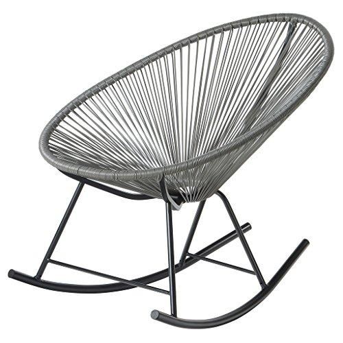 PoliVaz PV-MR-OR Mayan Hammock Acapulco Rocking Chair Grey
