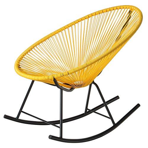 PoliVaz PV-MR-Y Mayan Hammock Acapulco Rocking Chair Yellow