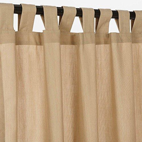 Hatteras Hammocks Sunbrella Outdoor Spectrum Curtain with Tab Top