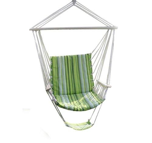 Go Plus Green Leisure Swing Hammock Hanging Outdoor Chair Garden Patio Yard 260lbs Max