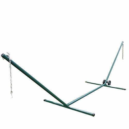 Prime Garden 15 Ft Heavy Duty Steel Tubing Hammock Standincludes Hammock Stand Wheel Kiteasy To Assemblesteel