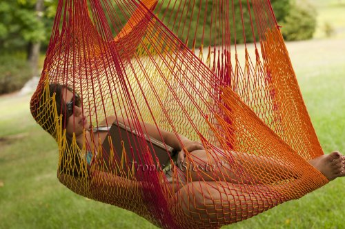 Breezy Point Mayan Mexican Cotton Hammock Chair