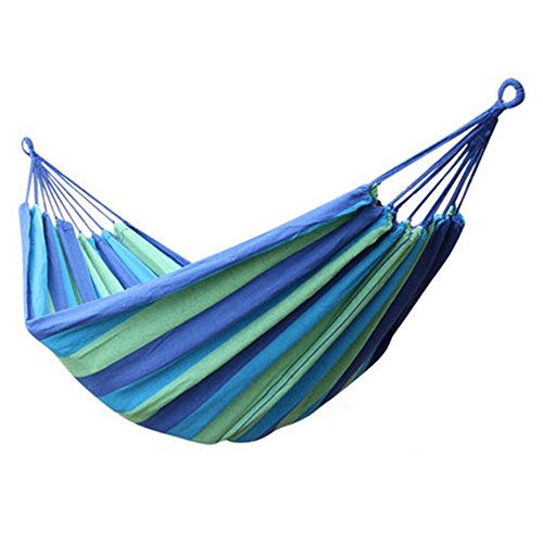Powerlead Phkc K001 Hammock Cotton Fabric Travel Camping Hammock 2 Person 450lbs For Hammock Chair Bed Outdoor