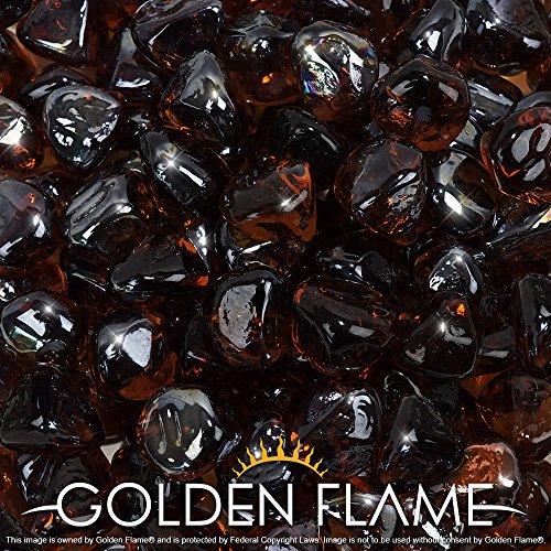 Golden Flame&reg 10-pound Fire Glass 1-inch Copper Reflective Fire-diamonds