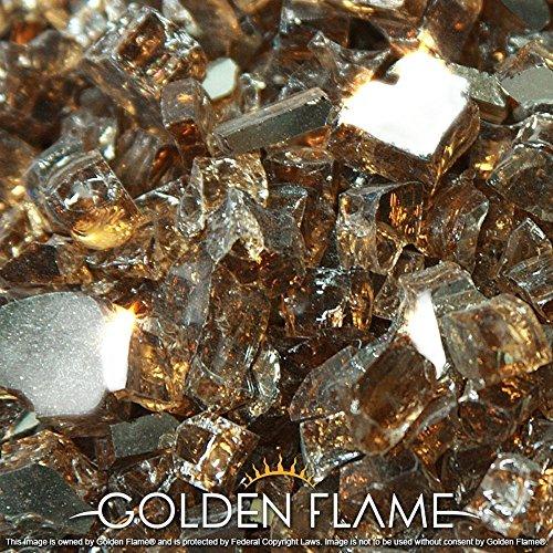 Golden Flame&reg 20-poundquotfire Glass&quot 12-inch Rich-copper reflective
