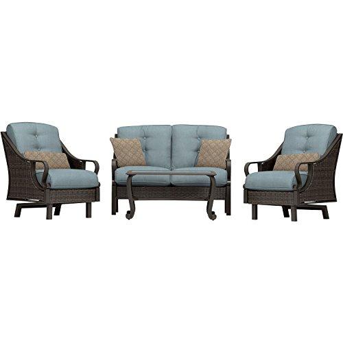 Hanover Furniture Ventura 4-piece Patio Set Ocean Blue