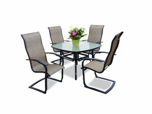 Max Furniture Metropolitan 5pc Outdoor Dining Table Set