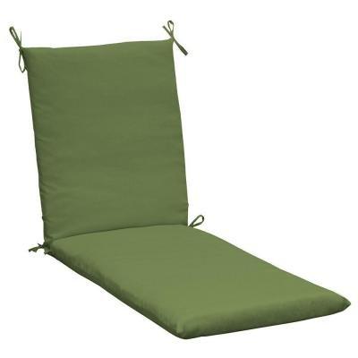 Hampton Bay Spectrum Spectrum Cilantro Outdoor Chaise Lounge Cushion