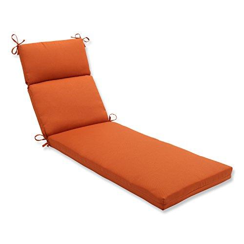 Pillow Perfect Indooroutdoor Cinnabar Chaise Lounge Cushion Burnt Orange