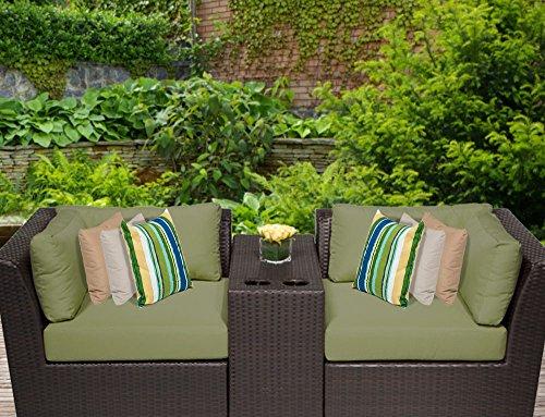 TK Classics 3 Piece Barbados-03B Outdoor Wicker Patio Furniture Set Wheat