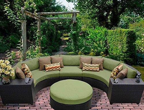 TK Classics 6 Piece Barbados-06C Outdoor Wicker Patio Furniture Set Wheat
