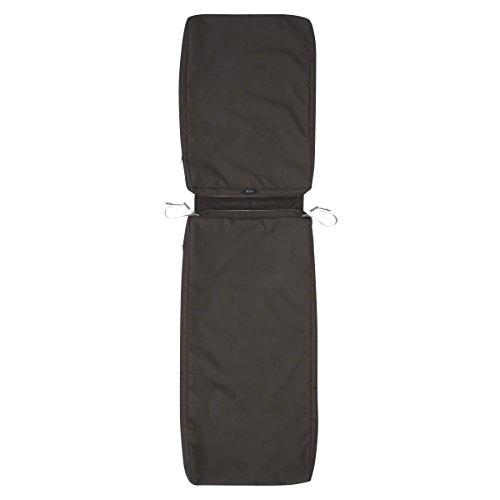 Classic Accessories Ravenna Patio Chaise Lounge Cushion Slip Cover Espresso 72 x 21 x 3