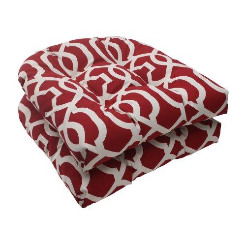 Pillow Perfect Indooroutdoor New Geo Wicker Seat Cushion Red Set Of 2