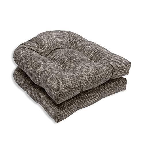 Pillow Perfect OutdoorIndoor Remi Patina Wicker Seat Cushion Set of 2