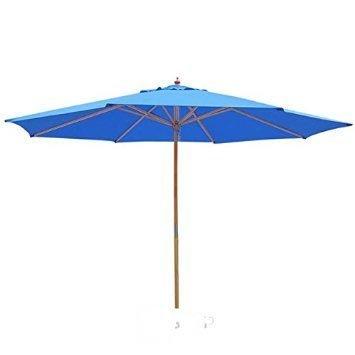 13 Foot Blue Market Patio Umbrella Outdoor Furniture