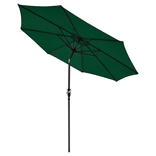 CHIMAERA 9 Patio Outdoor Furniture Umbrella Tilt Green