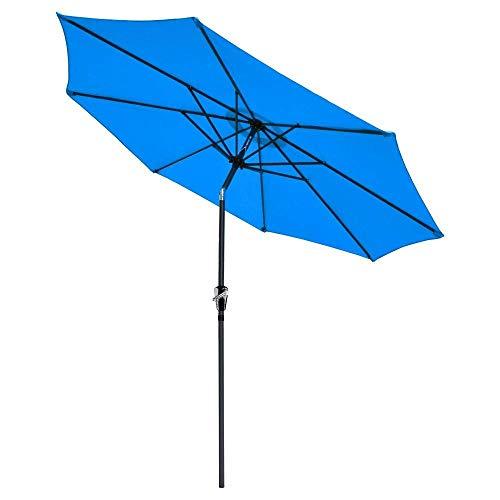 CHIMAERA Chi Mercantile 9 Outdoor Patio Furniture Umbrella Tilt System Blue